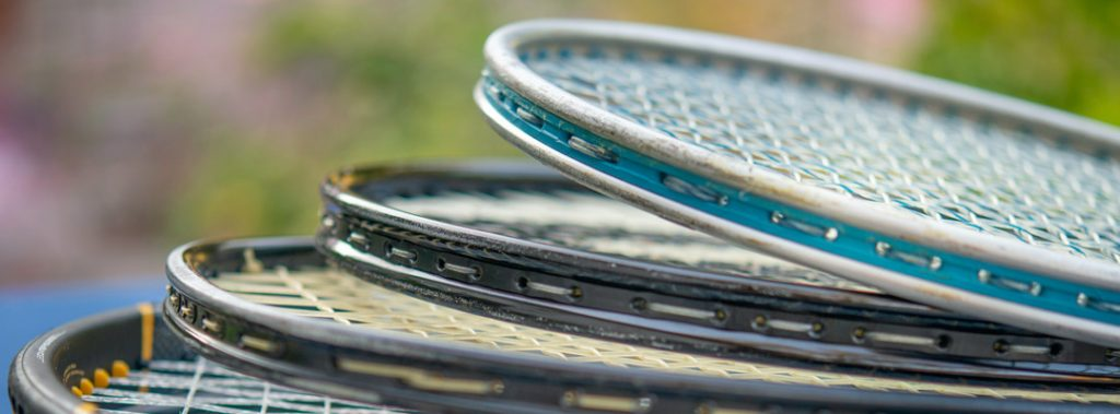 tennis racquets to be strung